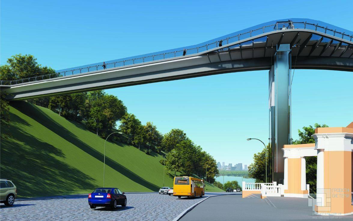 Ширина моста будет переменной - от 6 метров до 14