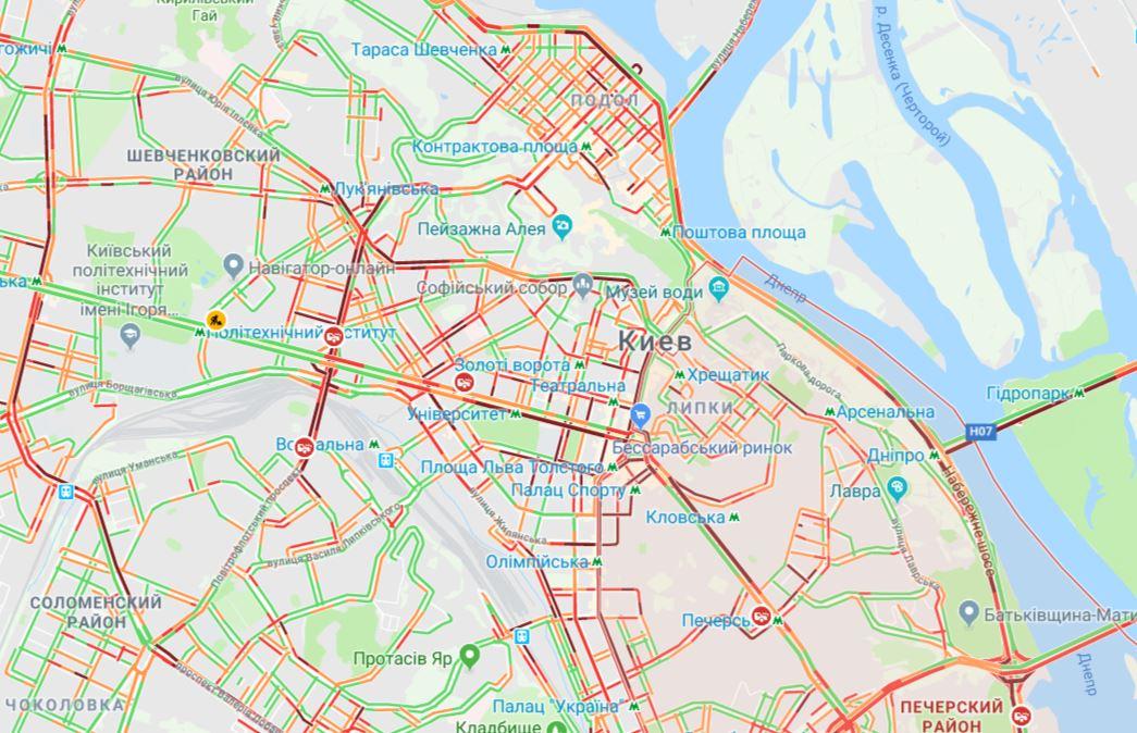Киев сковали пробки