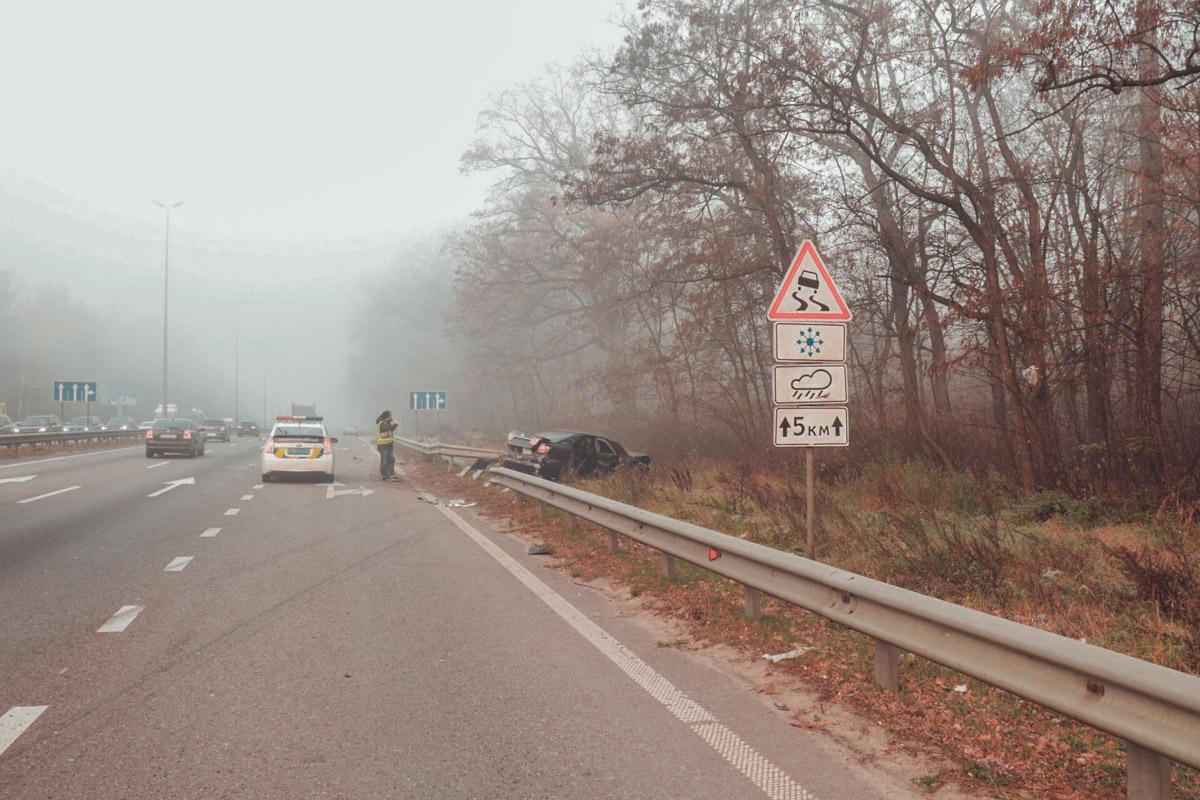 На Житомирской трассе в четырех километрах от Киева произошло крупное ДТП