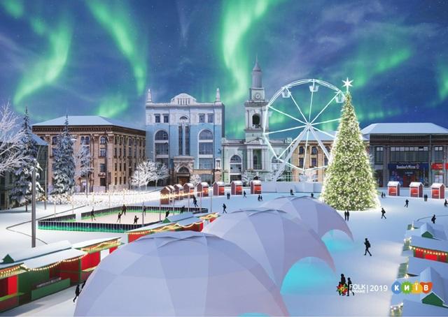 Торжественное зажжение елок на Контрактовой и Софийской площадях состоится 19 декабря