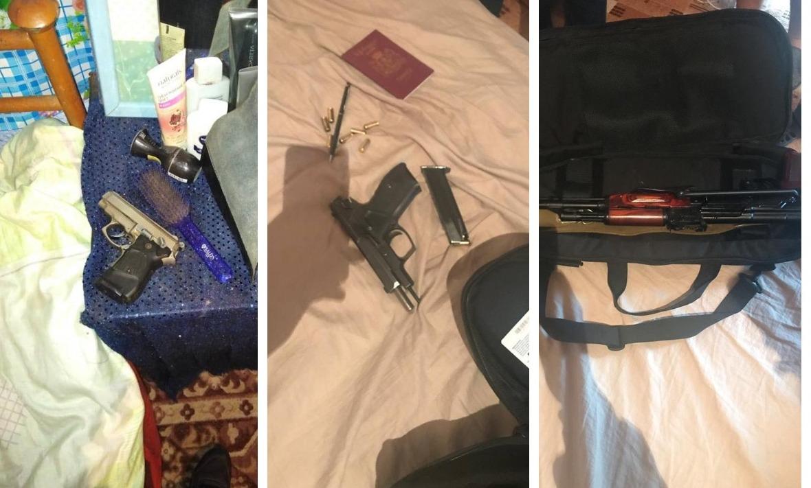 У злоумышленников изъяли большое количество оружия и боеприпасов