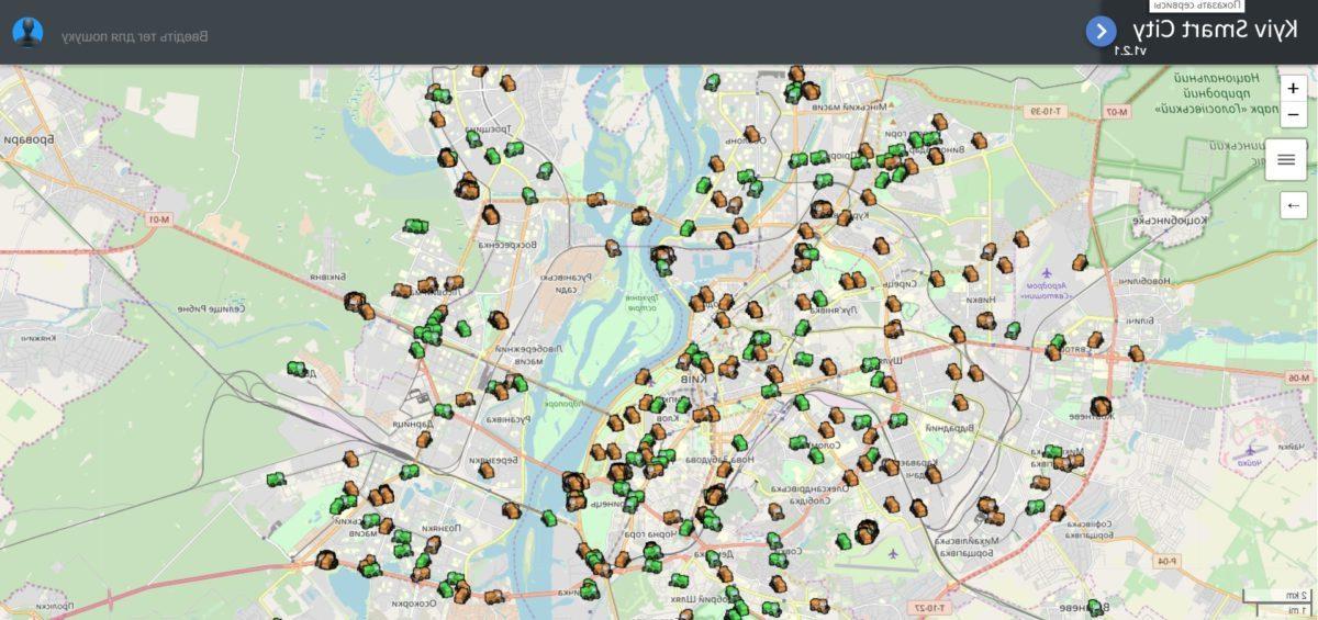 Вот так выглядит работа коммунальных служб на карте города