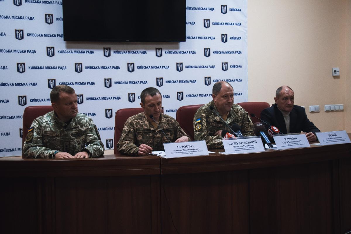 В КГГА прошла встреча представителей военных комиссариатов с прессой по поводу призыва