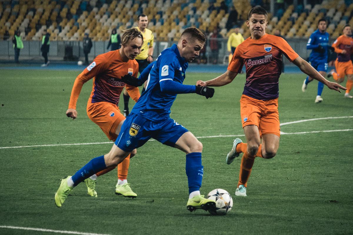 Виктор Цыганков и в этой встрече был лидером атак столичной команды