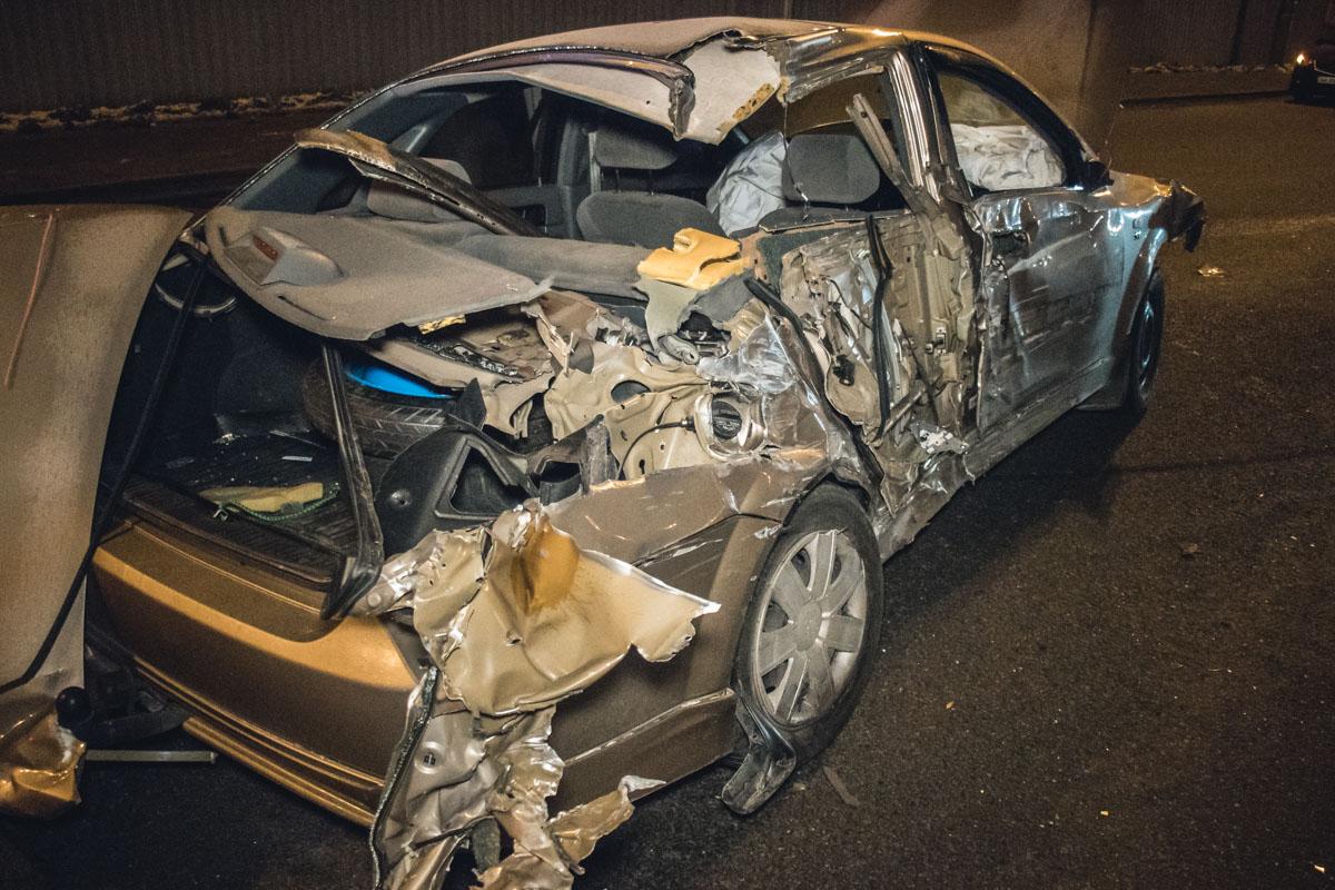 В Киеве на Кольцевой дороге произошло серьезное ДТП