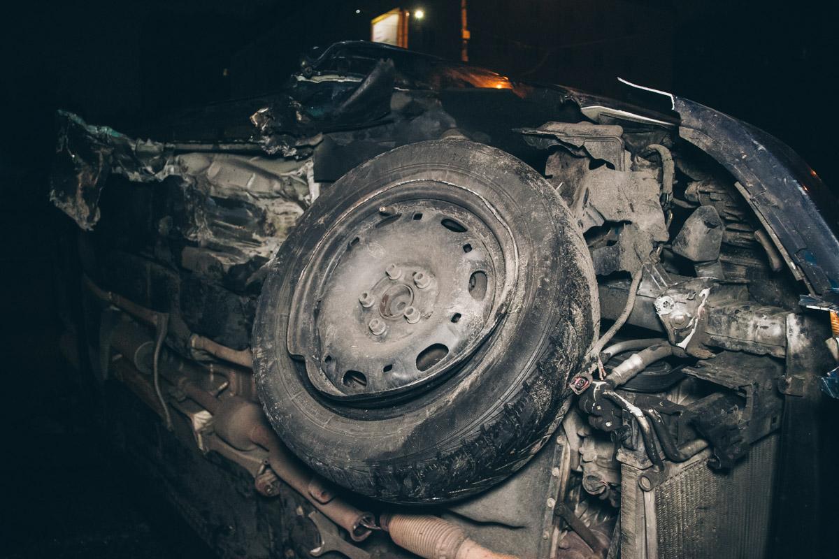 На проспекте Победы произошла авария с участием автомобиляSkoda Fabia