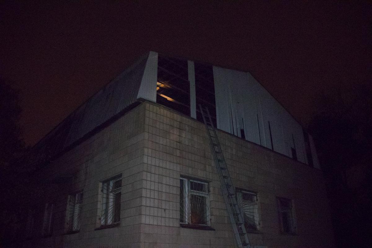 Очаг возгорания находился на крыше