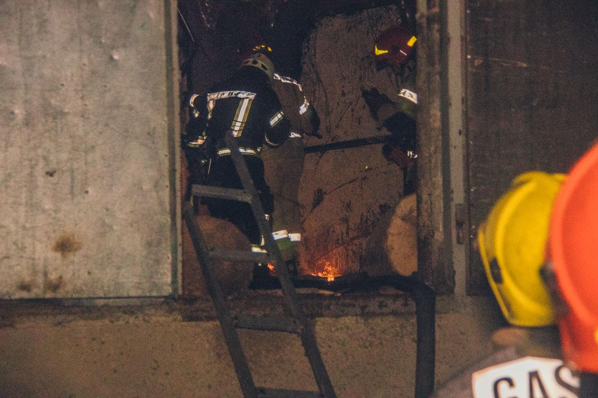 Площадь пожара составила около 150 квадратных метров