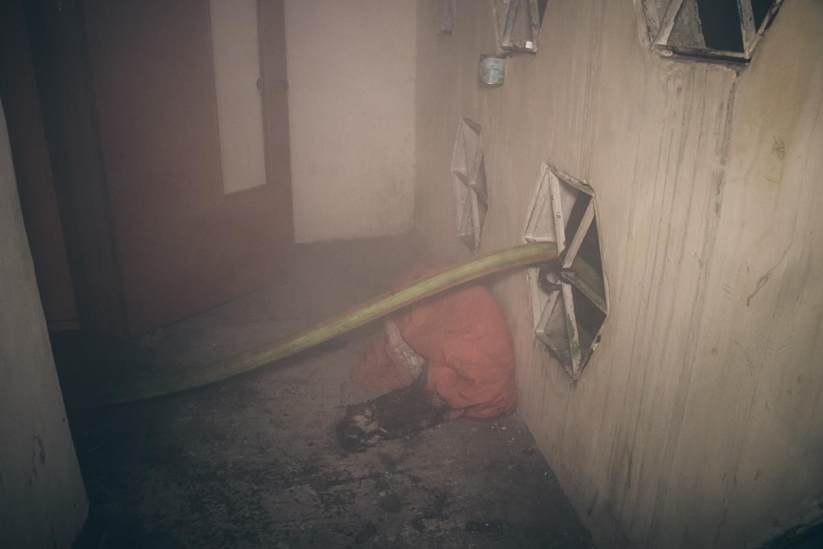 Возгорание произошло около 02:00 на 9 этаже жилого дома
