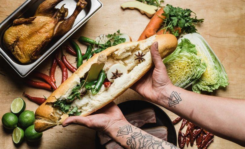Заведение предлагает широкий ассортимент вьетнамских сендвичей