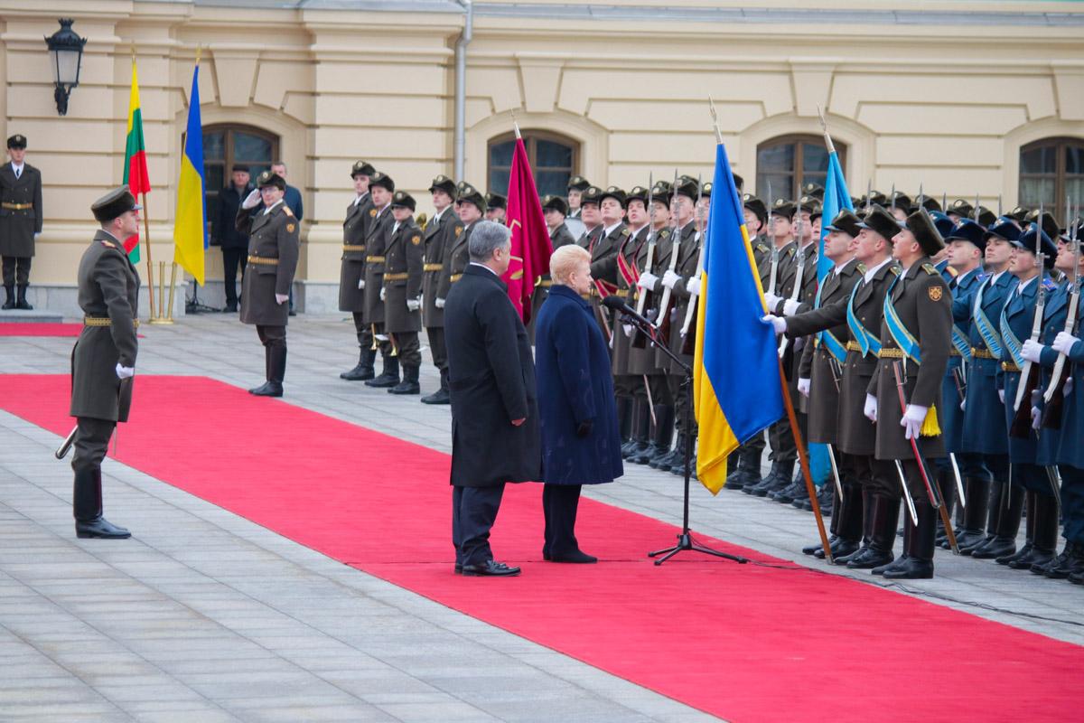 Встреча президентов началась в Мариинском дворце