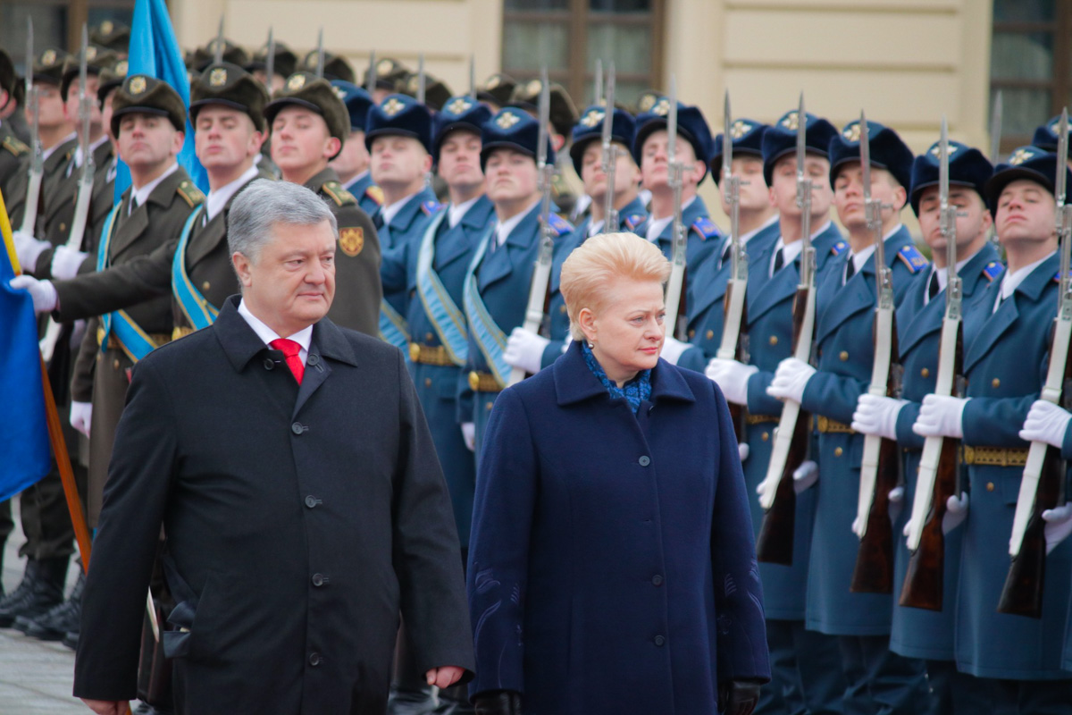 В Киев с официальным визитом прилетела президент Литвы