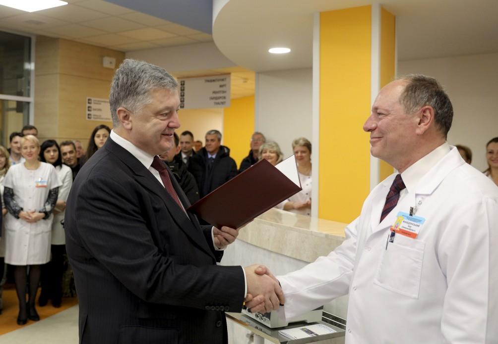 Президент поздравил врачей с такой инфраструктурой