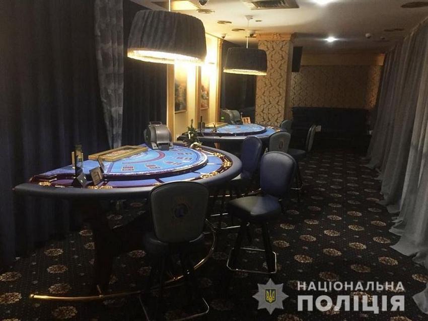 В Киеве закрыли работу подпольного казино