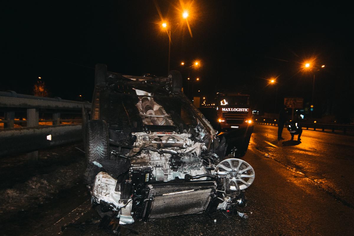 На Столичном шоссе произошла авария с участием автомобиля Audi A3 и грузовика DAF