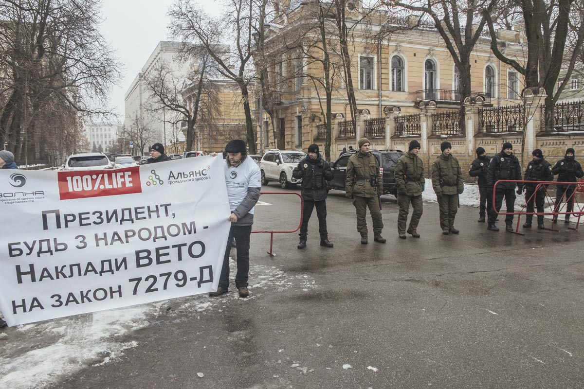 """Люди скандировали """"Вето!"""""""