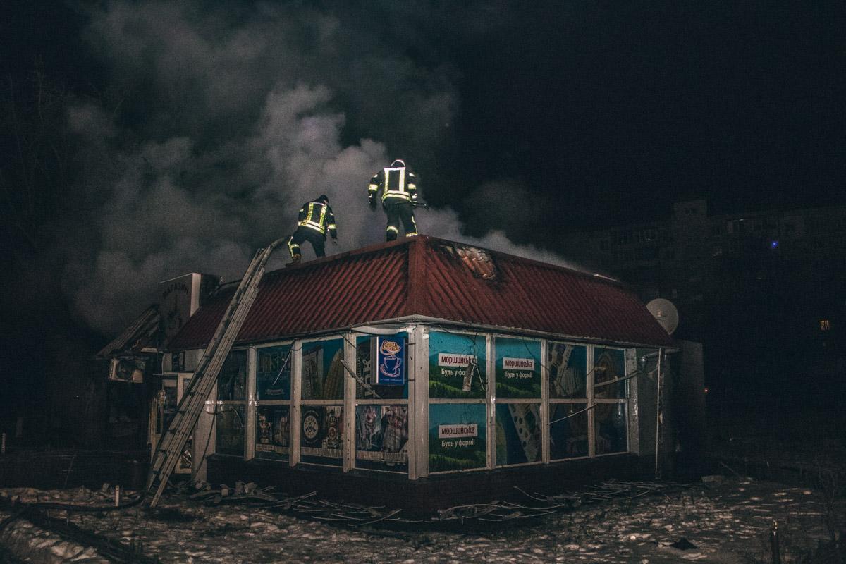 В пятницу, 7 декабря, Киеве на Березняках произошел пожар