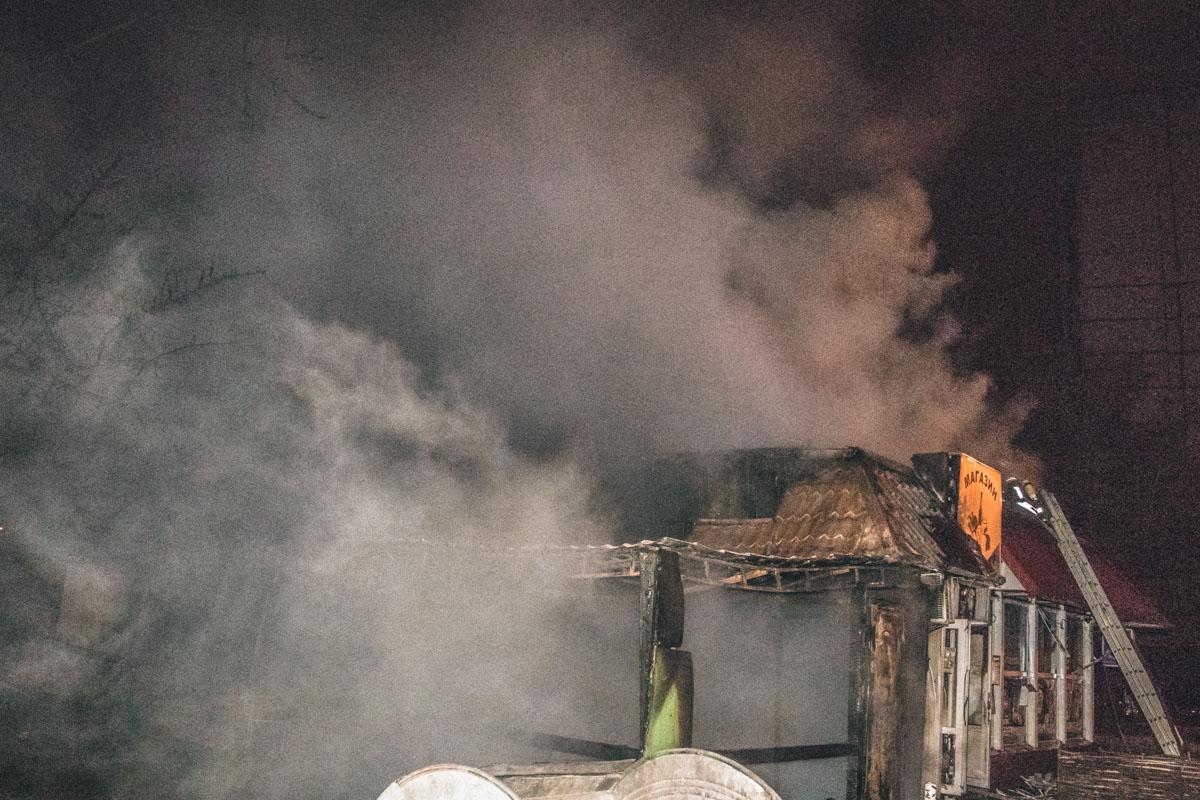 Ее сотрудники сообщили, что в магазине за пару минут до возгорания сработали датчики движения