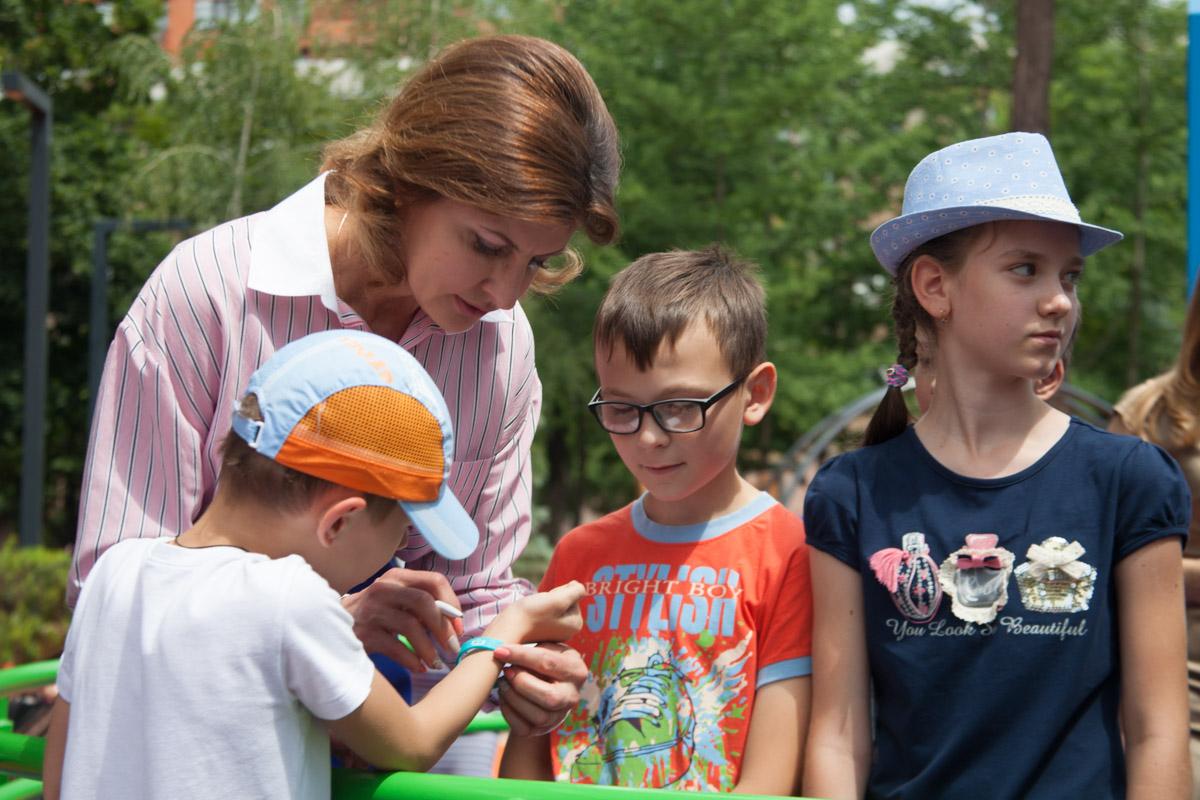 Парк открыла Марина Порошенко