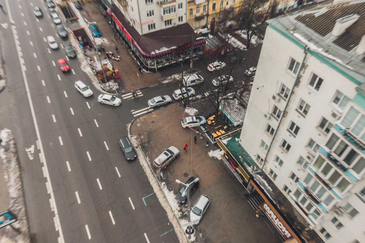 Авария с полицейским Prius с высоты