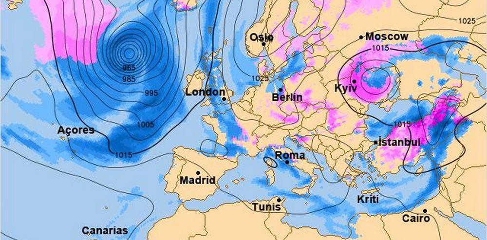 Карта движения циклона