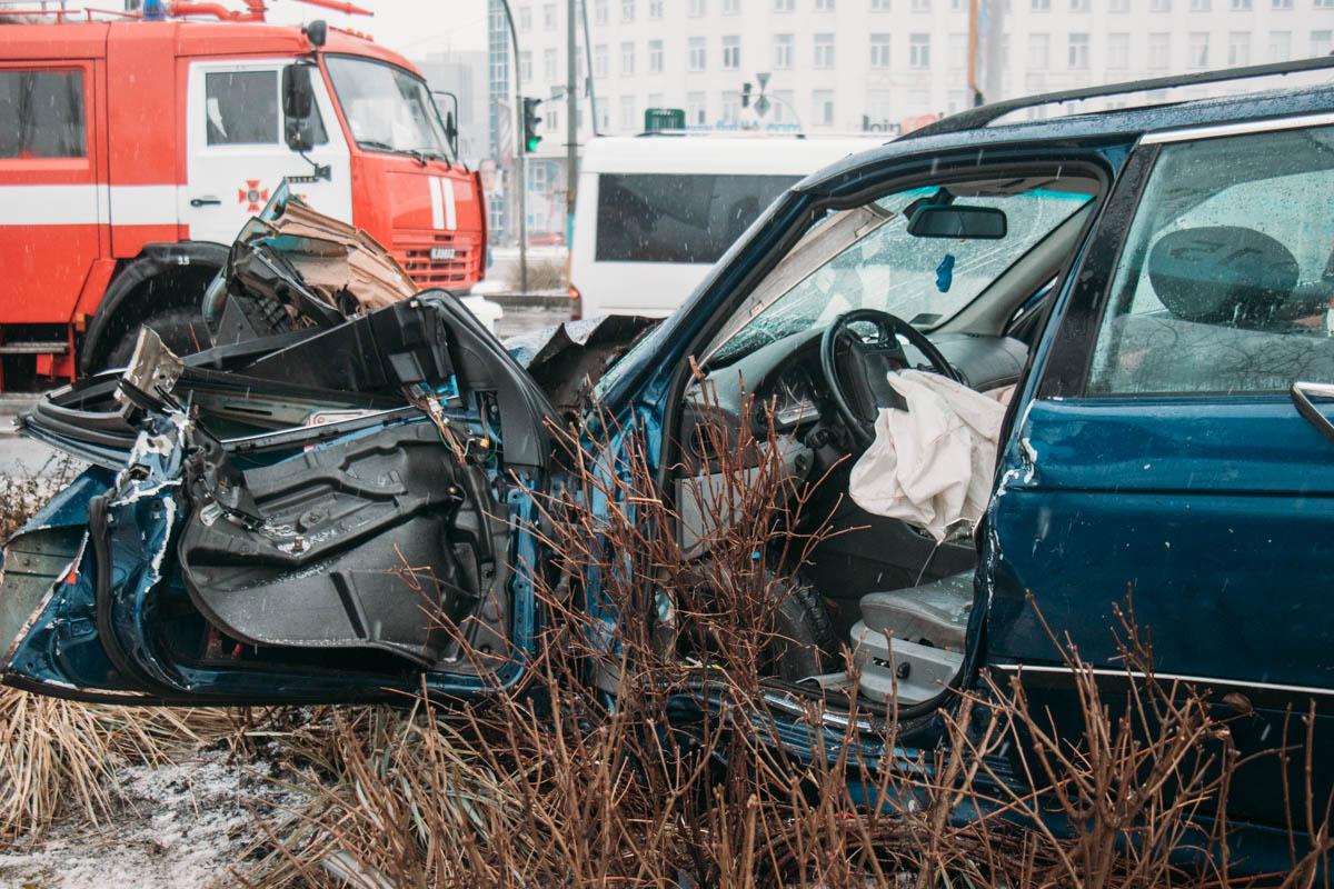 Авария случилась около 8:10