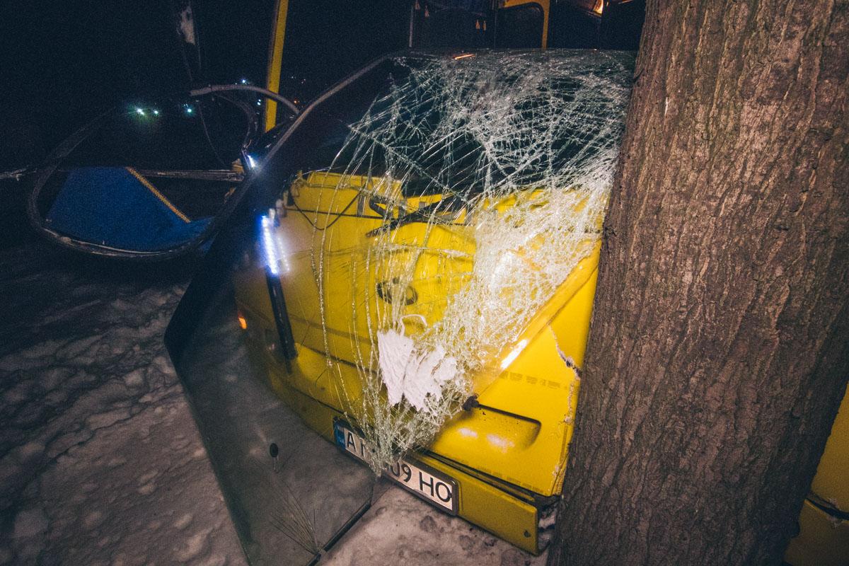 """Автобус """"Богдан"""" врезался в дерево"""