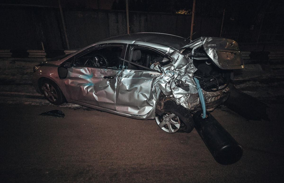 В результате аварии больше всего пострадал автомобиль Hyundai Accent