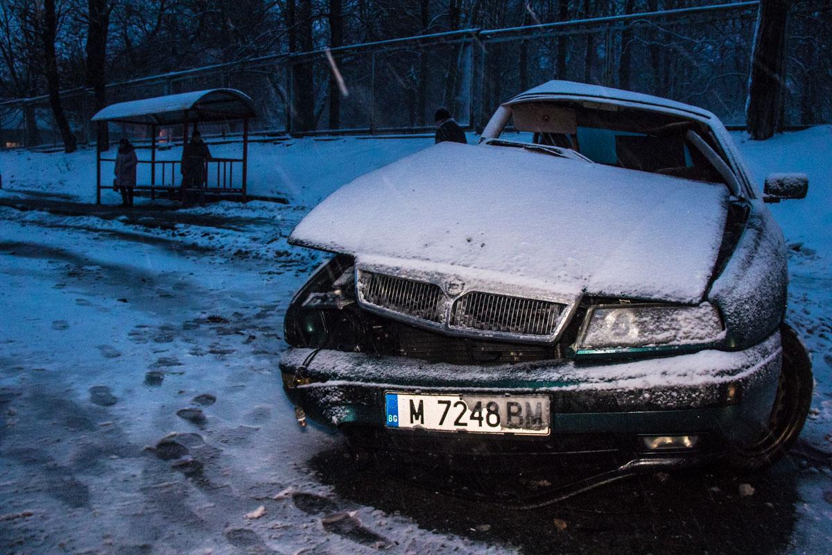 Столкнулись Lancia Kappa и Volkswagen Jetta