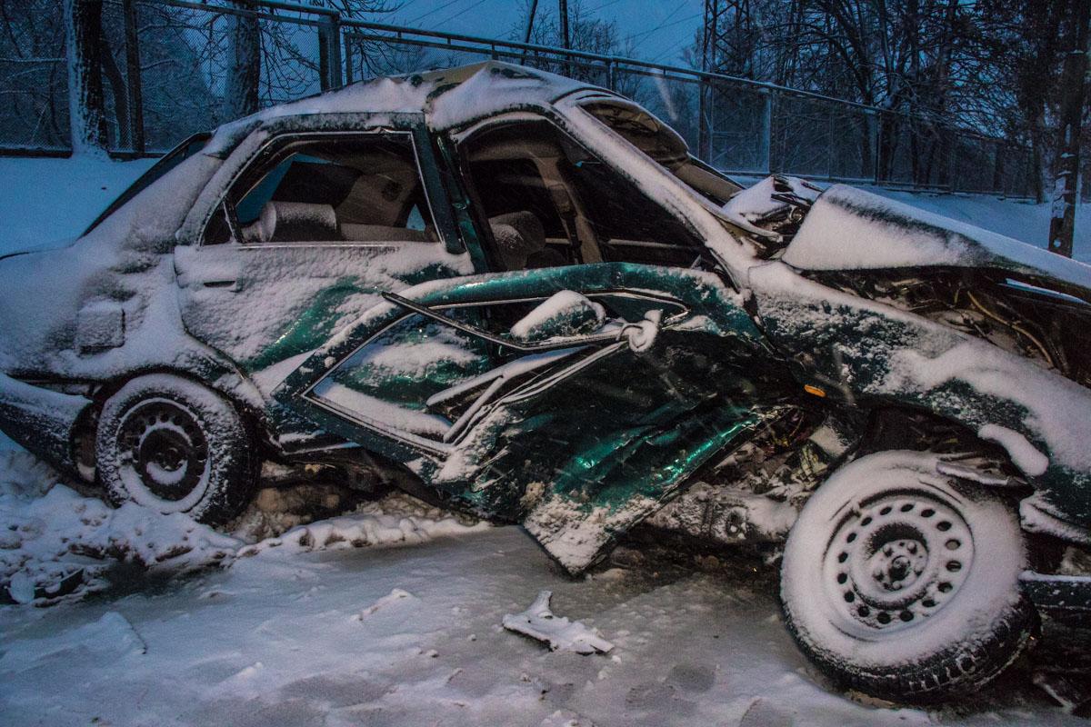 В результате аварии водителя Lancia госпитализировали в больницу