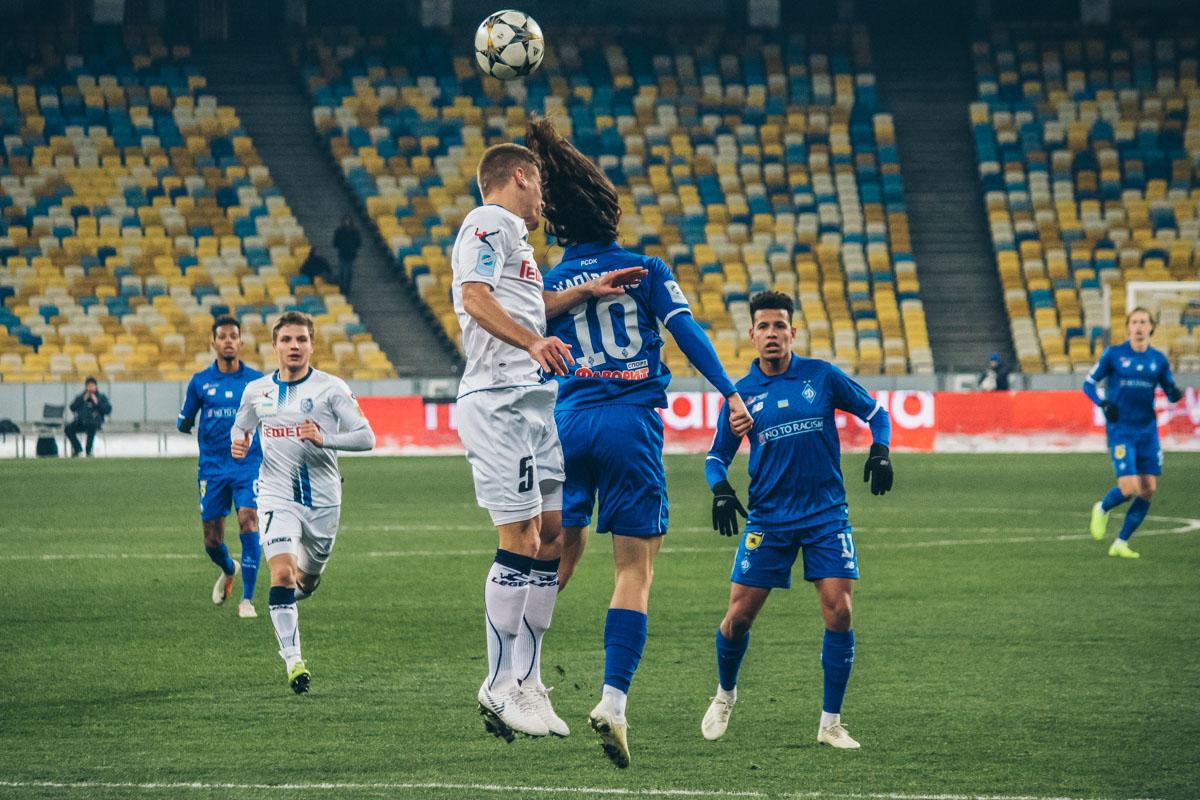 Николай Шапаренко провел матч не так активно, как предыдущие игры