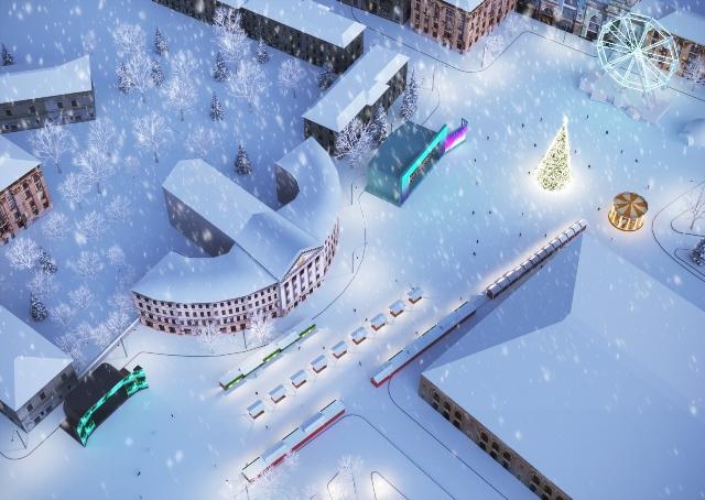 Новогодняя локация в Киеве будет открыта до 19 января