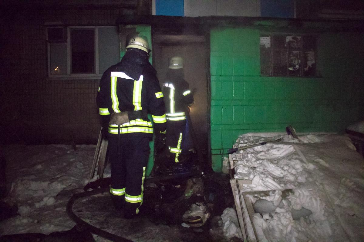 На Харьковском шоссе случился пожар