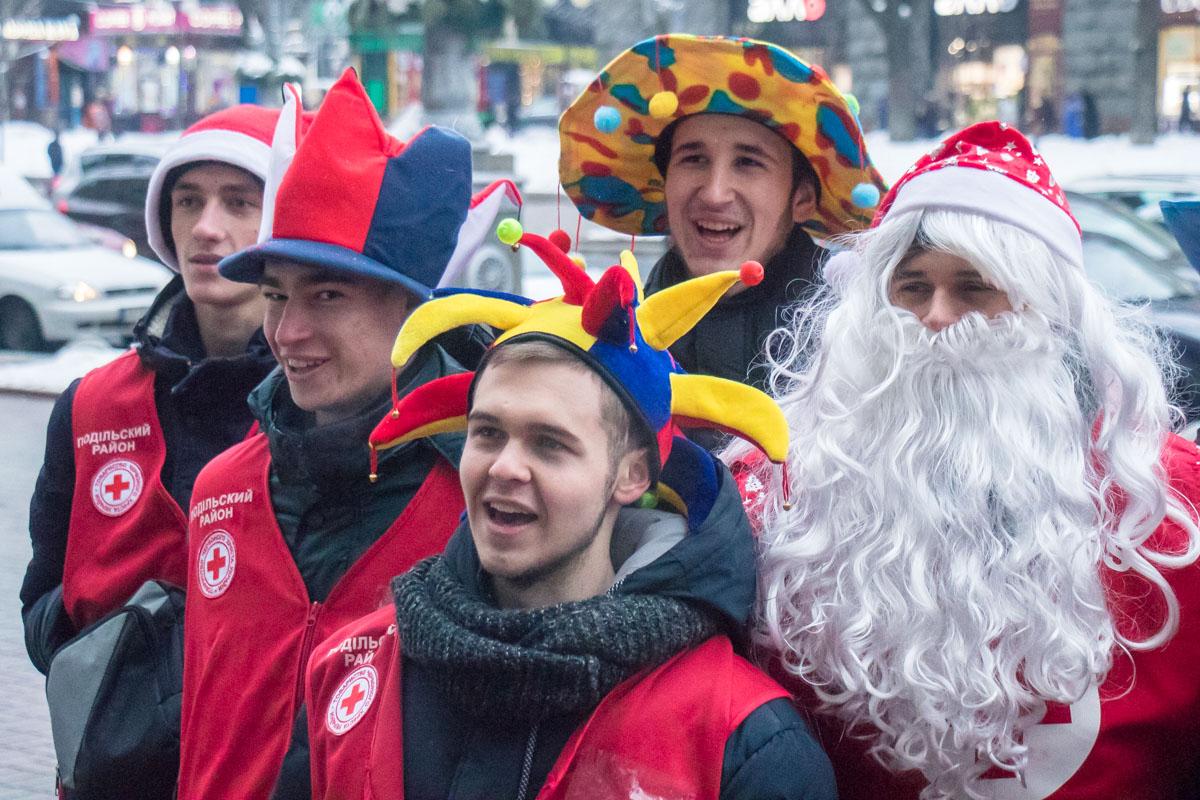 В среду, 19 декабря, в Киеве произошел праздничный парад
