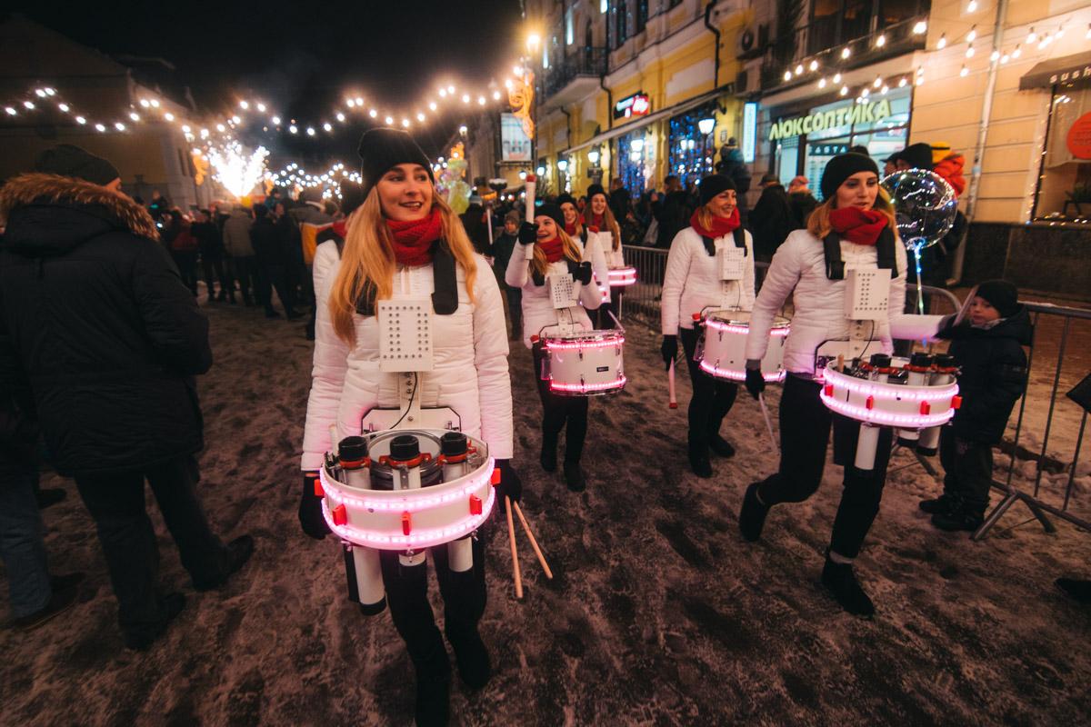 Старт праздничного шествия