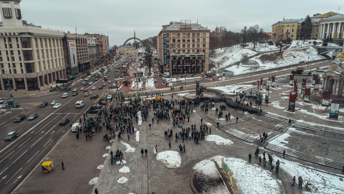 Националисты начали собираться на Майдане