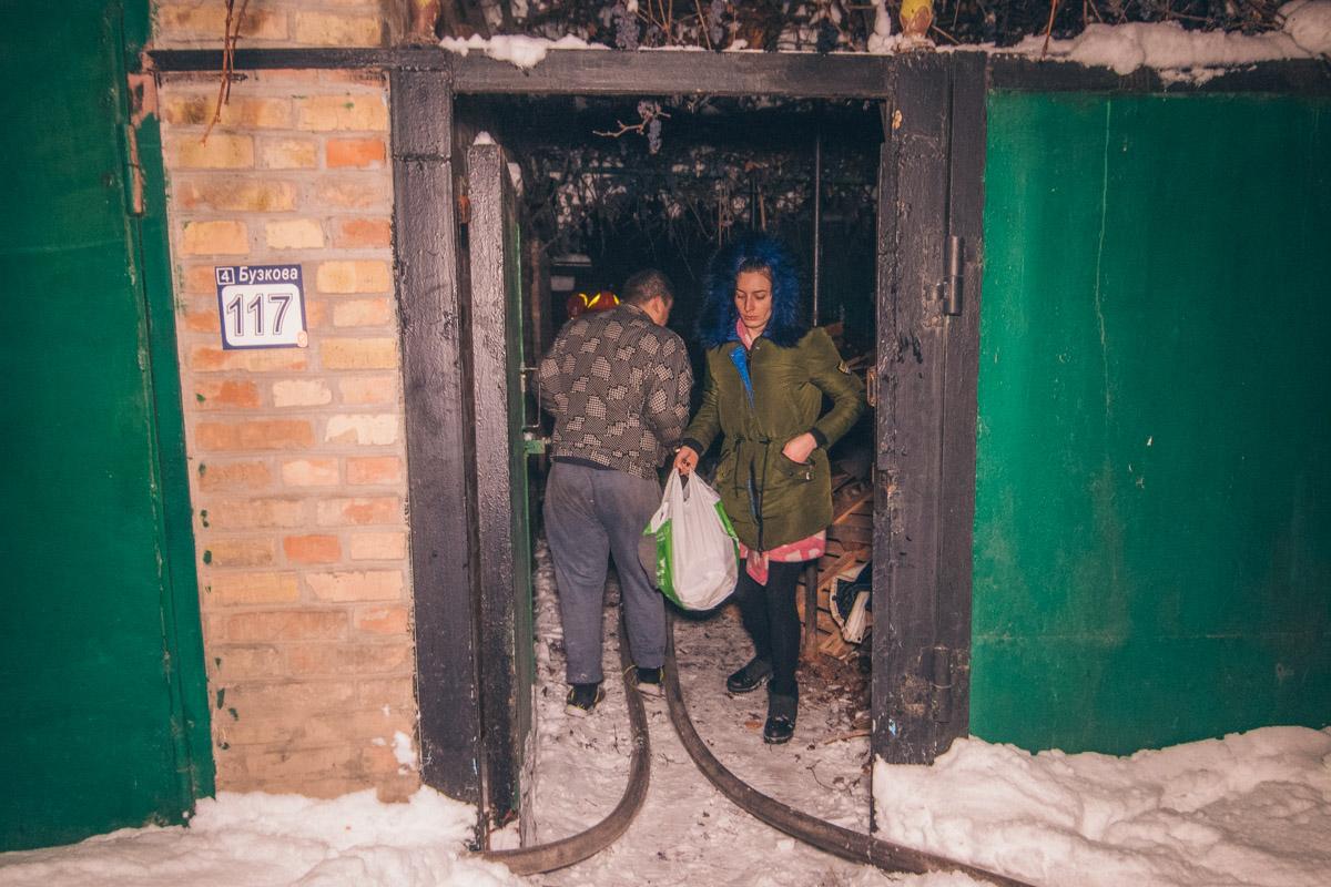 В ночь на 19 декабря в Киеве на улице Стеценко произошел пожар