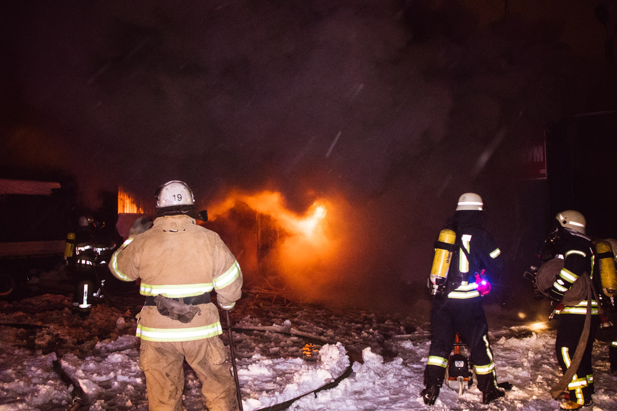 13 октября, в четверг в Киеве по адресу улица Миропольская, 39 произошел пожар