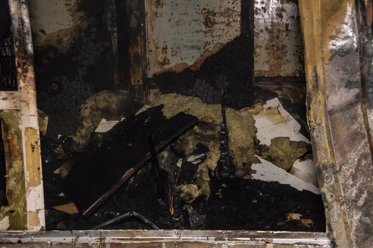Огонь полностью уничтожил сторожку