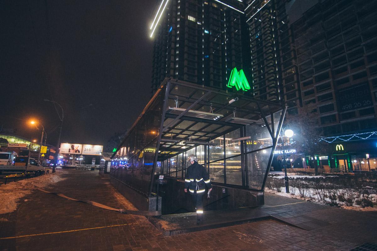 В ночь на 21 декабря в Киеве на станции метро «Минская» прошли плановые учения