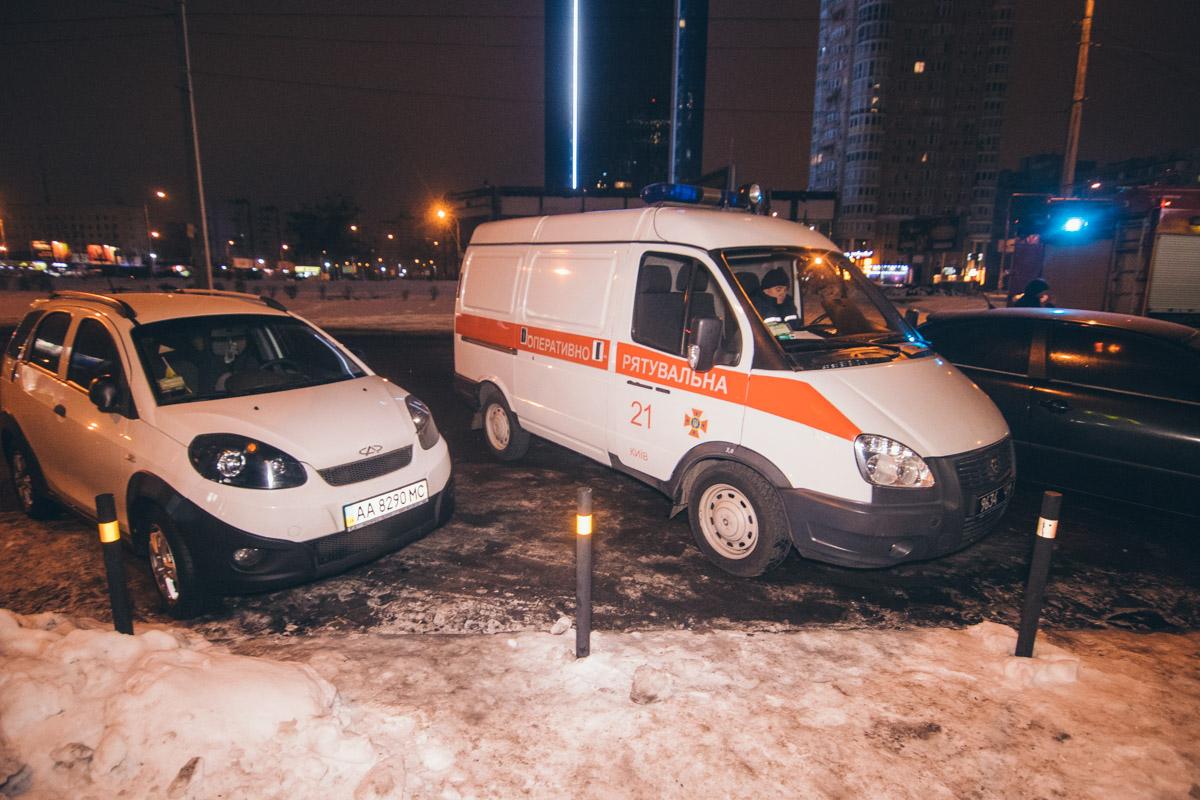 "На место ""пожара"" оперативно прибыли спасатели"