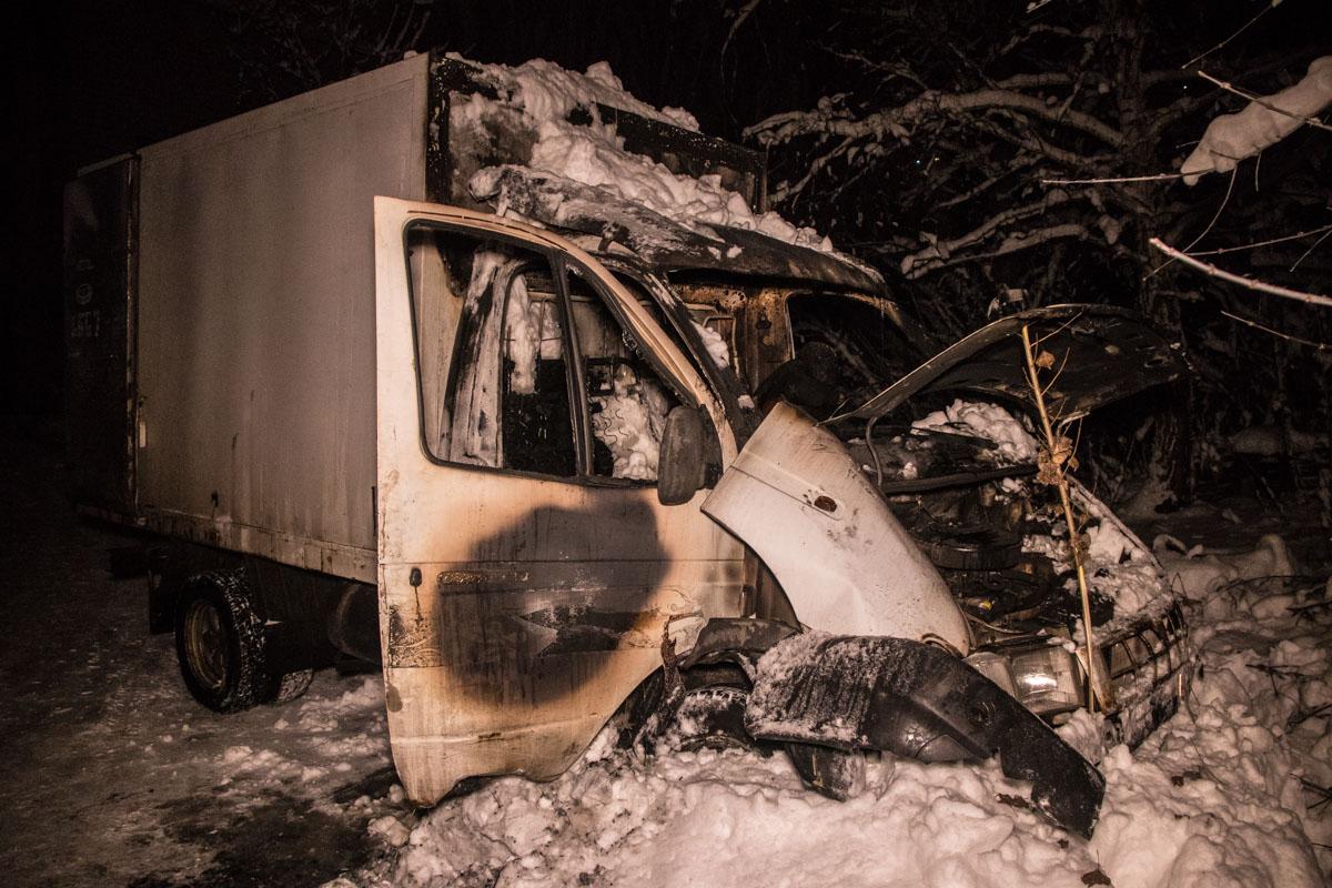 К сожалению, водитель сгорел заживо
