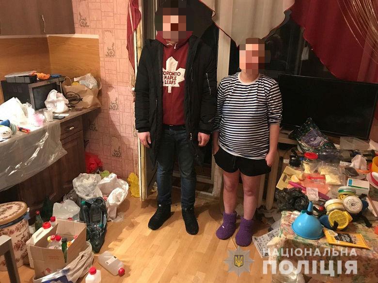 В Шевченковском районе Киева правоохранители задержали супружескую пару