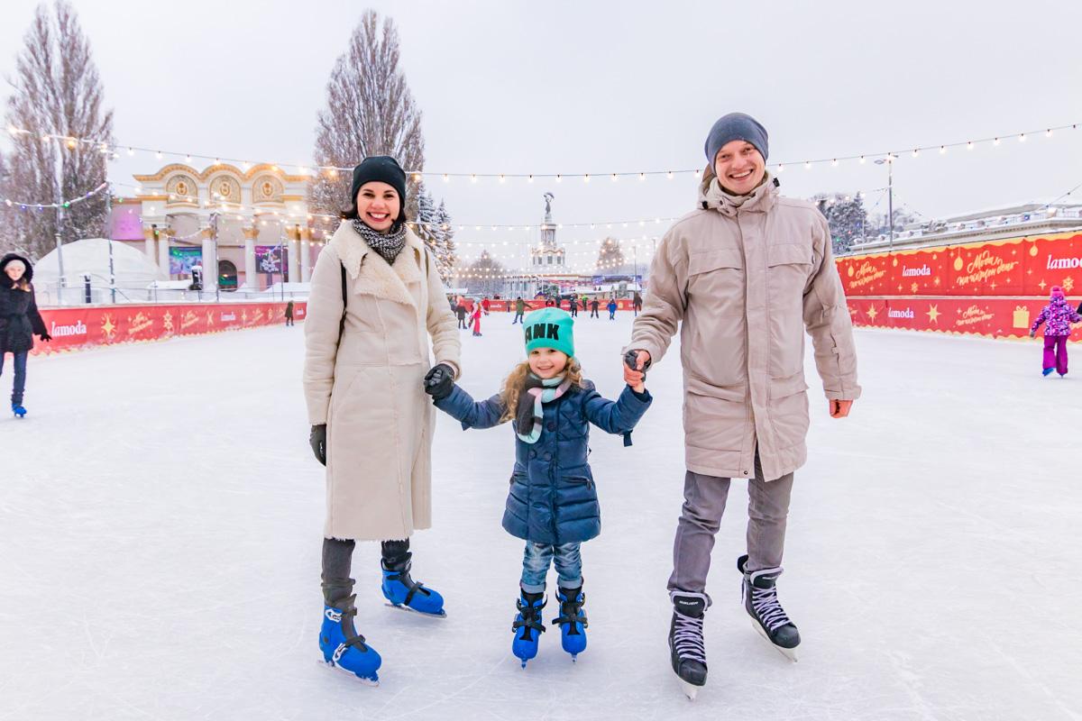 Февраль - отличное время для катания на коньках