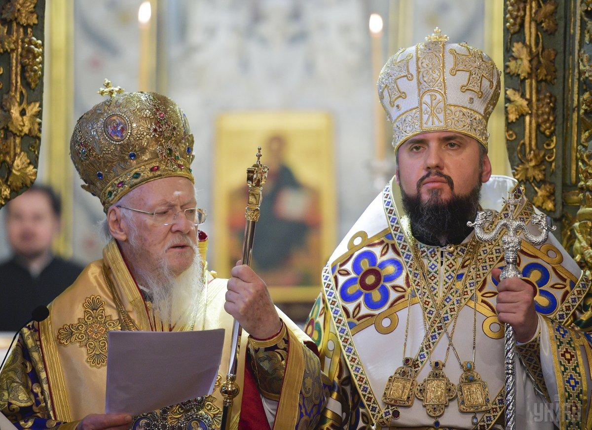 Вселенский патриарх Варфоломей передал главе Православной церкви Украины ЕпифаниюТомособ автокефалии
