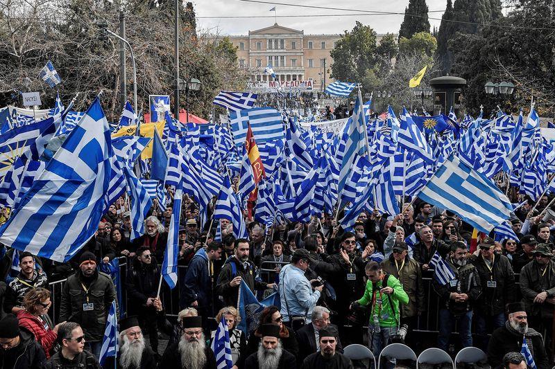 На протесты вышли около 60 тысяч греков