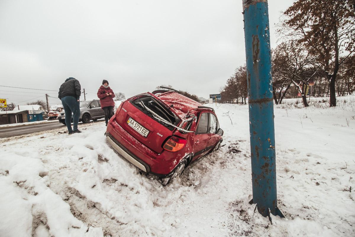 7 января возле остановки Жуляны 2 произошло ДТП с участием автомобиля Suzuki