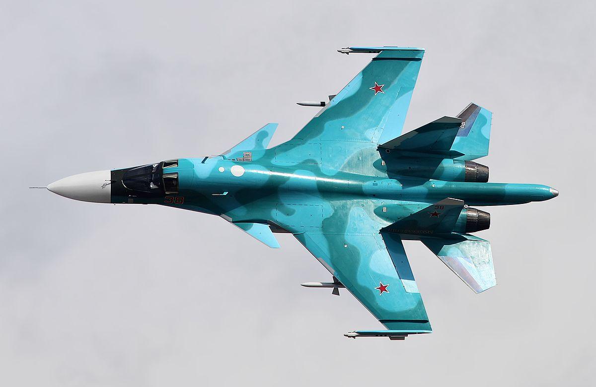 В России во время полета столкнулись два бомбардировщика СУ-34