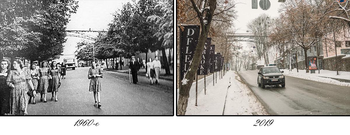 60 лет назад люди могли гулять прямо по проезжей части, ведь интенсивность движения была намного ниже
