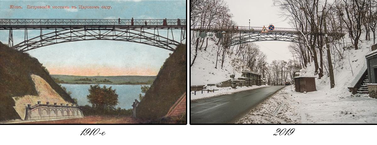 Мост был построен по проекту известного инженера Евгения Патона и официально открыт 22 ноября 1910 года
